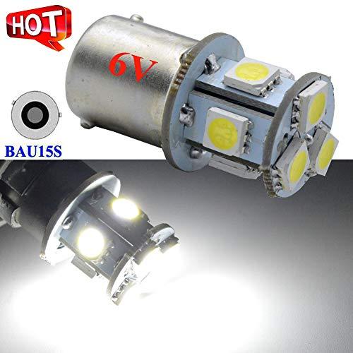 Ruiandsion BAU15S super luminoso bianco DC 6V 5050chipset 8SMD LED Lampadina di ricambio per...