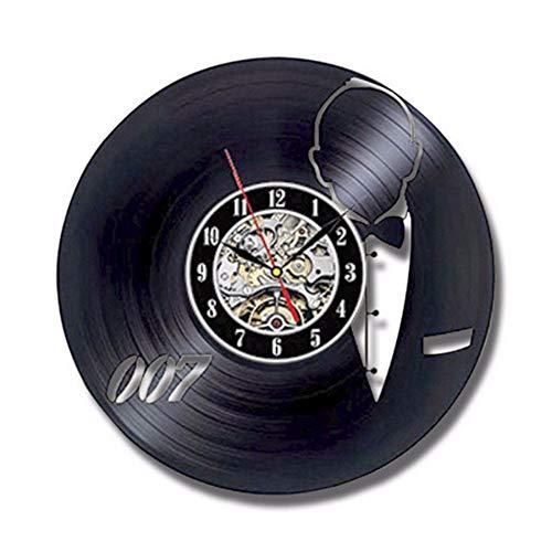 myvovo)Orologio da Parete in Vinile Design Moderno Decorazione Soggiorno James Bond 007 Orologi...