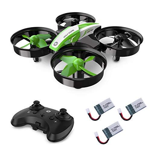 Holy Stone HS210 Mini Drohne für Kinder, Indoor Quadrocopter Helikopter Ferngesteuert mit 3 Akkus, Bis zu 21 Minuten Flugzeit, Anfängerfreundliche Funktionen, Ideal für Kinder Anfänger, Grün