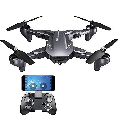 Goolsky VISUO XS816 Drone con Fotocamera 4K WiFi FPV Flusso Ottico Posizionamento Gesto Fotografia Pieghevole Quadcopter Altitudine Tenere Drone