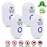 [2019 UPGRADED]Ultrasonic Pest Repeller, Electronic Plug In Indoor Pest Control Insect Repellent for Mosquitoes, Cockroaches, Mouse, Flies, Spriders, Rodents, 100% Harmless to Pets and Human(4 Pack)