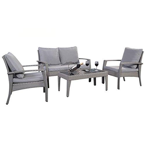 12tlg.Polyratten Lounge Set Gartenmöbel Loungemöbel Polyratten Sitzgruppe Gartengarnitur Möbelgarnitur