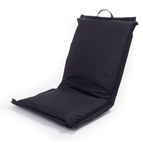 Ampel 24 Siège de sol FESTIVAL, chaise de méditation avec dossier réglable | Siège pliable parfait pour l'extèrieur | imperméable | noir 5