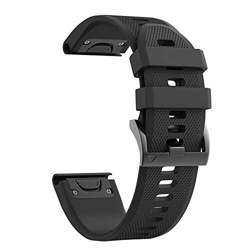 Notocity Garmin Fenix 5X Band Easy Fit 26 mm larghezza morbido silicone orologio da polso per Garmin Fenix 5X