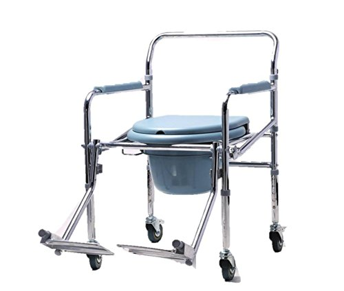 KHL Commode Chair with Footrest and Wheels
