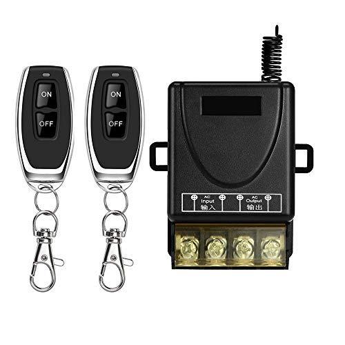 DONJON interruttore con telecomando,110V-240V interruttore senza fili di rf 328ft a lungo raggio....