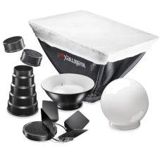 Walimex 7 Piezas Juego flash con difusor, Snoot, Reflector para Canon 580EX II