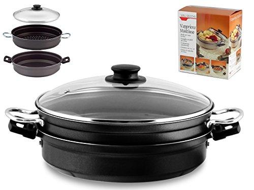 Valsecchi 465500 Vaporiera Antiaderente Multiuso cm28 Pentole e Preparazione Cucina