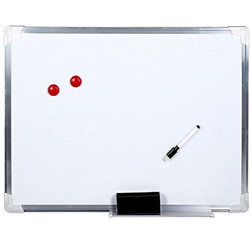 Vetrineinrete Lavagna magnetica bianca 60x45 cm con telaio in alluminio e fondo scrivibile compresi...