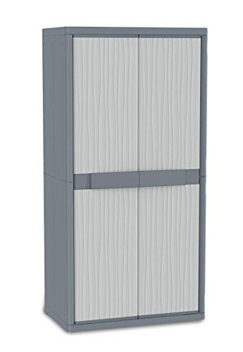 TERRY Jumbo 2900 UW Armadio Alto in Plastica XL Tuttopiani, Grigio, 89.7 x 53.7 x 180 cm