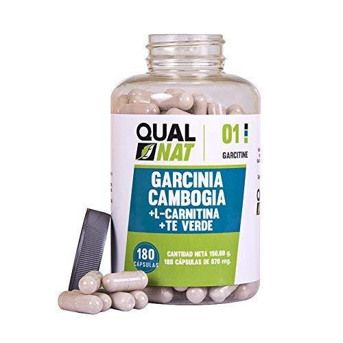 Garcinia Cambogia con L-Carnitina e tè verde per ridurre l'appetito e accelerare il metabolismo - Integratore alimentare con proprietà dimagrante - Potenzia le prestazioni sportive -180 capsule