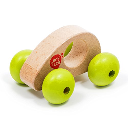 Lucy&Leo Roly Poly Car Push-Along Wooden Educational Toddler Toy for Baby Boy and Baby Girl, Essential baby toys, toys for every developmental stage, baby toys, must have baby toys, the best toys for babies, gift ideas for babies, Christmas baby gift ideas, gifts for babies