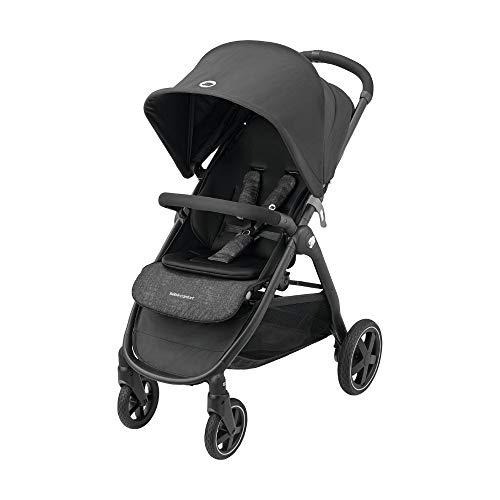 Bébé Confort Gia passeggino leggero e compatto, pieghevole con una mano, reclinabile posizione nanna, da 0 mesi fino a 22 kg, Nero