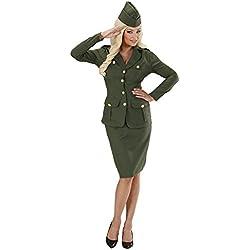 WIDMANN Video Delta Señoras WW2 Soldado Chica Disfraz Medio Reino Unido 10-12 de Guerra Militar del vestido de lujo