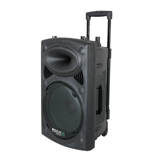 Ibiza Sound PORT12UHF-BT - Megafonía portátil, 12 pulgadas, color negro
