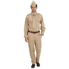 WIDMANN WW2 Soldado Disfraz Pequeño de Ejército Militar Guerra del vestido de lujo
