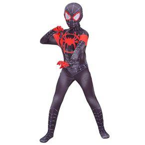 DSFGHE Traje De Spiderman para Niños Cosplay Medias Siamesas Conjunto De Universo Paralelo Mascarada Adulta Fiesta De Cumpleaños Vestido De Vestir,C[110-119CM]