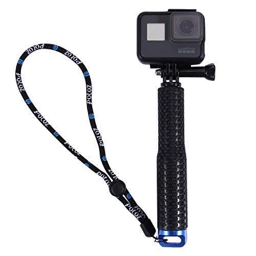 AnKooK Selfie Stick, Bastone selfie per Gopro Hero 2017/ Hero(2018)/6/ 5/ 4 /3 + 3 2 1SJ6000/Xiaomi Yi/AKASO, SJCAM Blu , GoPro Pole Alluminio, Impermeabile, regolabile Estensione cinturino da polso