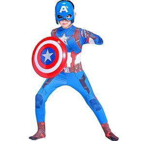 YXIAOL Disfraz De Cosplay De Capitán América, Disfraz De Superhéroe Infantil, Vestido De Fiesta De Halloween, Estilo 3D…