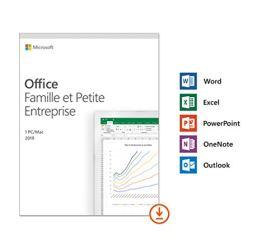 Microsoft Office Famille et Petite Entreprise 2019 - 1 PC ou Mac - achat définitif