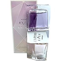 """2 perfumes en spray, de Avon Eve Duet Eau de Parfum, 2 de 25 ml, """"Radiant"""" y """"Sensual"""" fusionados en una botella, para mezclar o usar individualmente"""