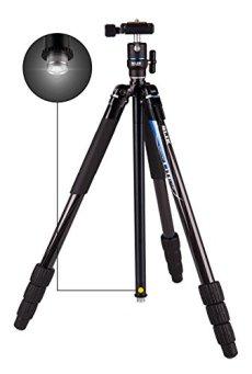 Slik Lite cf-422trípode carbono ultra-compact de columna Reversible con linterna LED Negro