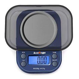 ACCUWEIGHT Bilancia Digitale – Bilancia Elettronica Mini Portatile Bilancia 300g /1000g, Digital Pro Pocket Bilancia con Display LCD Retroilluminato, Tara, Conteggio PCS, Funzione di Calibrazione
