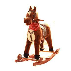 YUMEIGE Caballitos de madera Caballitos de madera 28,7 × 28,7 × 19,2 pulgadas, que llevan más de 60 kg, niños, regalos…