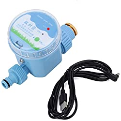 GLOGLOW Regulador de riego Inteligente automático eléctrico de Las Flores del Contador de Tiempo automático de la irrigación del jardín