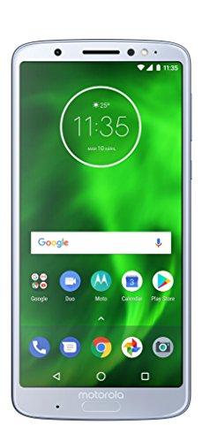 "Motorola Moto G6 Plus - Smartphone de 5.9"" Full HD+ (Android 8.0 Oreo, 4 GB, Doble Cámara de 12 MP y 5 MP, Dual Autofocus Pixels, TurboPower, Qualcomm Snapdragon 630), Plata (Nimbus)"