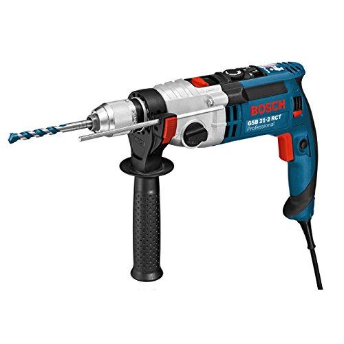Bosch Professional Schlagbohrmaschine GSB 21-2 RCT (Schnellspannbohrfutter: 13 mm, Tiefenanschlag: 210 mm, Zusatzhandgriff, Koffer, Bohr-Ø in Beton: 13 - 22 mm, 1300 Watt)