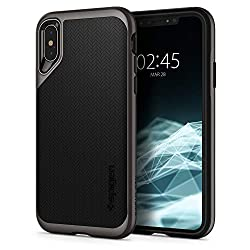 Kaufen Spigen Neo Hybrid, iPhone XS Hülle, iPhone X Hülle, Zweiteilige Handyhülle Modische Muster Silikon Schale und PC Rahmen Schutzhülle Case für iPhone XS (5.8 Zoll) / iPhone X (Gunmetal) 063CS24918