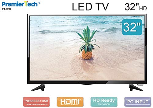 PremierTech Tv 32' pollici Led HD 16:9 DVB-T2 USB 3 HDMI PT-3210