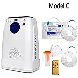 LIQICAI Portátil Concentrador de oxígeno Atomizando Ajustar 1-5L / min Máquina de oxígeno 90% Alto Pureza para uso doméstico / médico (220V- blanco) (no funciona con batería) ( Tamaño : C )
