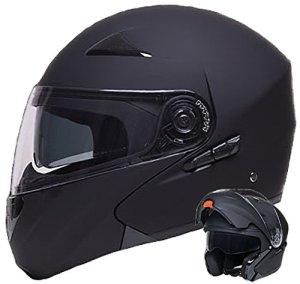 Klapphelm Integralhelm Helm Motorradhelm RALLOX 109 schwarz matt mit Sonnenblende Größe S M L XL 4