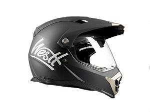 Westt® Cross · Mattschwarzer Crosshelm Motorradhelm mit Doppelvisier - ECE genehmigt 11