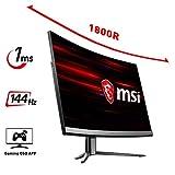 "MSI Optix MAG241C LCD Monitor Gaming 24"" Curvo, 144 Hz, 1ms"