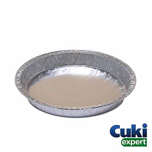 Cuki Expert - 100 Vaschette Alluminio Rotonde - Teglie usa e getta Alluminio Cuki - per forno...