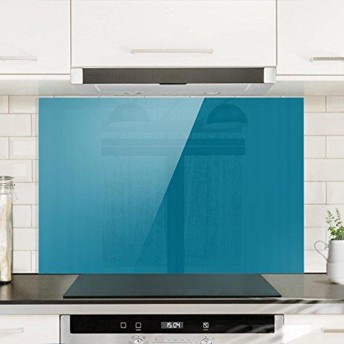 Bilderwelten paraschizzi in vetro petrol orizzontale 2 for Pannello decorativo cucina