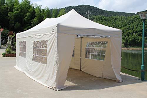All Seasons Gazebos 3x6m Waterproof Pop up Gazebo - Beige (Premium Sides)