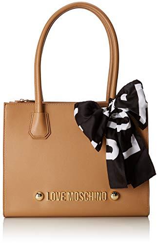 Love Moschino - Borsa Soft Grain Pu, Bolsos totes Mujer, Marrón (Cammello), 13x27x33 cm (B x H T)