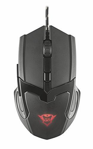 Trust GXT 101 Mouse da Gioco, Illuminato a 4800 DPI, Dotato di 6 Pulsanti