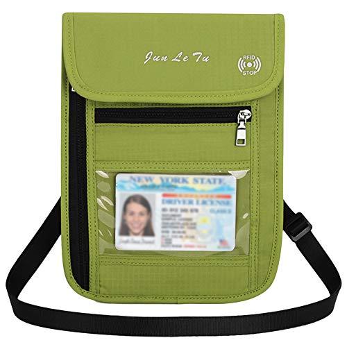 Festnight Travel Pouch Neck Wallet with RFID Blocking Passport Holder Document Organizer Bag for Men Women