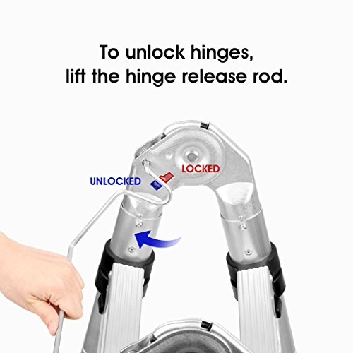 How to unlock hinges, lift the hinge release rod.