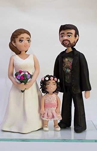 Muñecos de tarta para bodas personalizados.