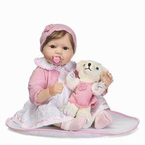 Nicery Reborn Baby Doll Renacer Bebé la Muñeca Vinilo Simulación Silicona Suave 22 Pulgadas 55cm Boca Vívido Natural…