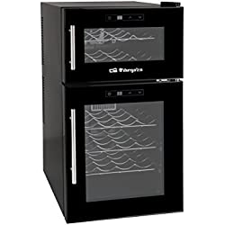 Orbegozo VT 2400 - Vinoteca de 24 botellas con display digital, color negro