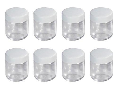 Severin - 3517 - Accessoires Jeu de 8 pots en verre avec couvercle - 150 ml - pour yaourtière 3516, 3519 et 3523