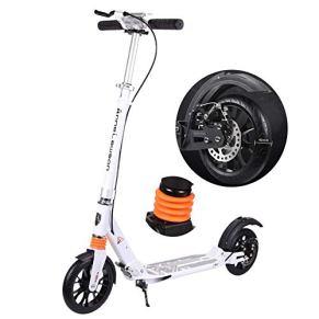 Relaxbx Patinete Plegable Ligero para Adultos con Frenos de Disco, Scooter de aleación de Aluminio con Ruedas Grandes de 40 mm, no eléctrico, Soporte 100 kg