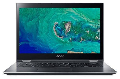 "Acer Spin 3 SP314-51-38BY - Ordenador portátil de 14"" Full HD (Intel Core i3-7020U, 4 GB RAM, 1000 GB HDD, UMA, Windows 10 Home) Gris- Teclado QWERTY Español"